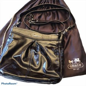 Coach Ashley Brown Patent Leather bag w/ dust bag